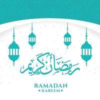 Ramadan Kareem Gruß Hintergrundvorlage vektor