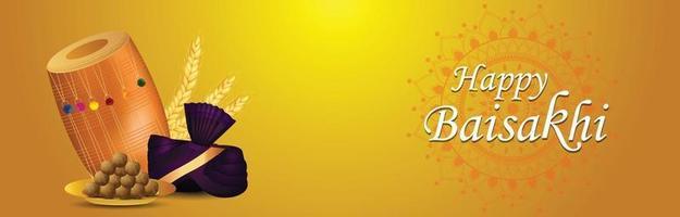 glückliche Vaisakhi Punjabi Festivalfeier