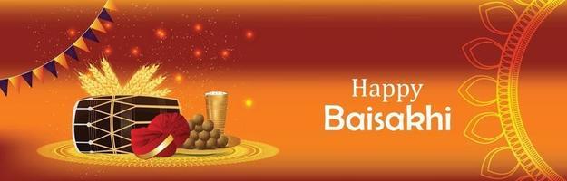 Happy Vaisakhi Feier Banner oder Header