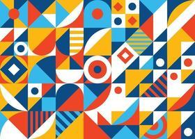 bunter abstrakter geometrischer Formmosaikhintergrund vektor