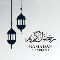 ramadan kareem hälsning bakgrundsmall vektor