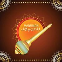 Lord Hanuman Waffe und kreativer Hintergrund
