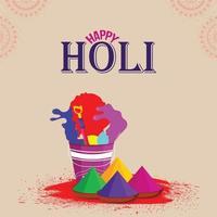 Happy Holi Grußkarte