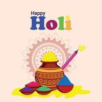 Holi Indian Hindu Festival Grußkarte vektor