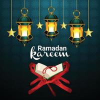 ramadan kareem eller eid mubarak hälsning bakgrund vektor