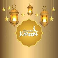 ramadan kareem islamisk bakgrund med lykta vektor