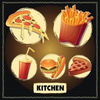 Fast-Food-Vektorgrafiken vektor