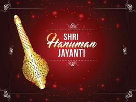 Shri Hanuman Jayani Hintergrund Design