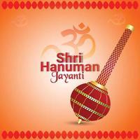 hanuman jayanti firande bakgrund vektor