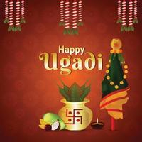 kreative Illustration der glücklichen Gudi Padwa Feier