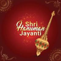 Hanuman Jayanti Grußkarte mit Hanuman Waffe