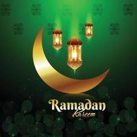 Ramadan Kareem islamischer Hintergrund mit Laterne vektor