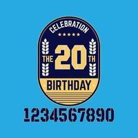 20 Jahre Jubiläum Set Vektor Vorlage Design Illustration