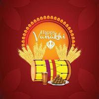 glückliche Vaisakhi flache Designfeier vektor