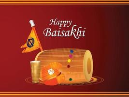 glad vaisakhi indisk sikh festival banner vektor