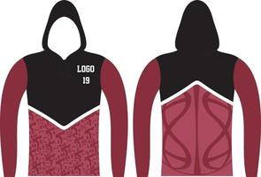 individuelles Langarm-Hoodie-Design vektor