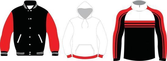 Softshell-Pullover-Uni-Jacke vektor