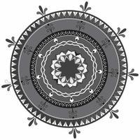 kreisförmiges Muster in Form von Mandala, dekorative Verzierung im orientalischen Stil, dekorativer Mandala-Designhintergrund freier Vektor