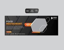 Food Social Media Promotion Banner Post Design Vorlage