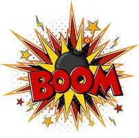 Comic-Sprechblase mit Boom-Text vektor