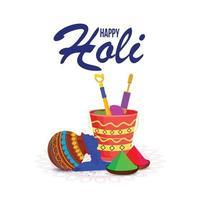 Happy Holi Grußkarte vektor