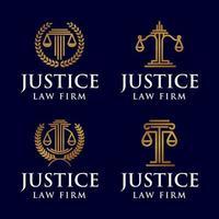 rättvisa advokatbyrå juridisk logotyp ikon vektor mall