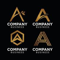 eine anfängliche Logo Gold Luxus für Unternehmen Firmenlogo Vektor Vorlage