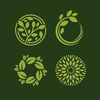 Naturkonzept mit Blattlogovektorschablone
