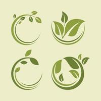 natur blad koncept logotyp ikon vektor mall
