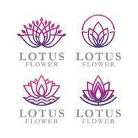 lotus blomma logotyp ikon vektor mall