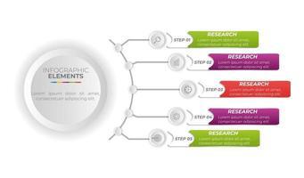 Infografik Business Banner Vorlage Design vektor