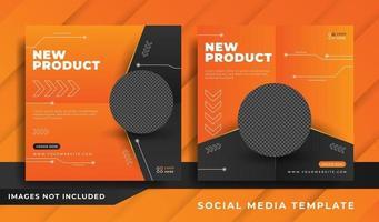 ny produktkampanj och kreativ omslagsmall vektor