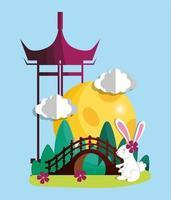 kanin happy moon festival bild