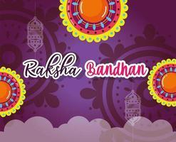 glücklicher Raksha Bandhan Plakatentwurf vektor