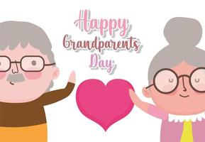 glad morföräldrar dag tecknad design vektor