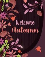 Willkommen Herbstlaub Saison Bild vektor