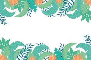 sommar tropiska blad bakgrund vektor
