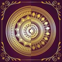 lyxig gyllene mandala bakgrund vektor