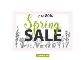 vårförsäljning upp till 80 kort med handritade blommor-liljor i dalen, tulpan, snödroppe, krokus. handgjorda bokstäver vektor