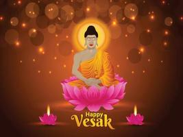kreative Illustration von glücklichem Vesak vektor