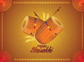 Happy Vaisakhi Drum Design