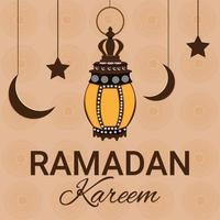 ramadan kareem islamisk festivalbakgrund med islamisk lykta vektor