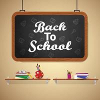 Back to School Design Hintergrund vektor