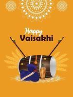 vaisakhi indisk sikh festival firande affisch vektor