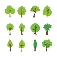 Baumvektorschattenbild. Baum mit Wurzeln frei Vektor