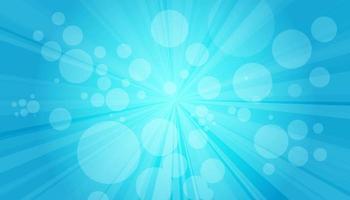 blauer Sanny Strahlenhintergrund. funkelnde magische Staubpartikel. Vektorillustration. vektor