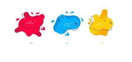 moderne Reihe von abstrakten Bannern. Vorlage zur Verwendung im Web- oder Druckdesign. Vektor helle Vorlage Banner.