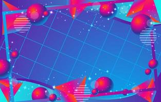 abstrakter bunter Retro-Futurismushintergrund vektor