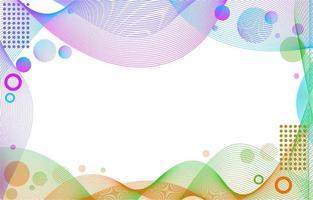 abstrakter bunter Linienwellenhintergrund vektor