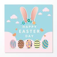 Happy Easter Day Hintergrund vektor